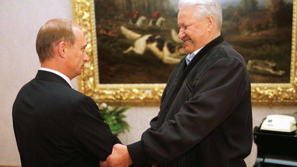 Putin y Boris Yeltsin.