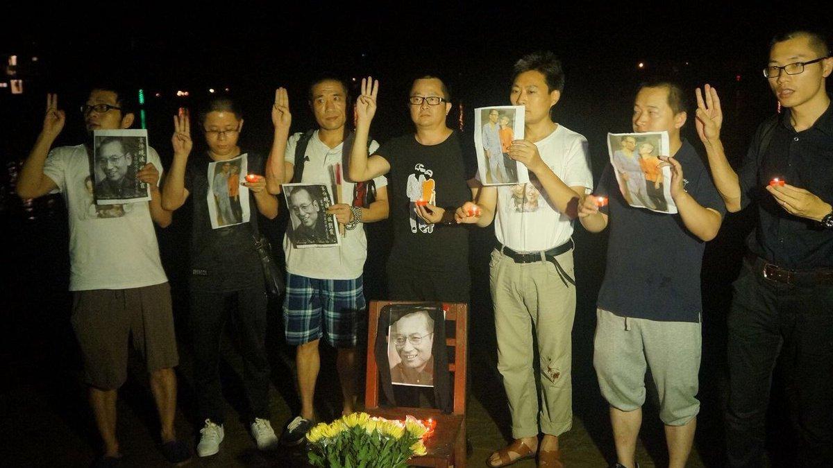 Activists 'held for Liu Xiaobo memorial'