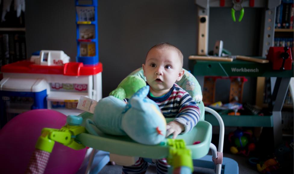 Kaiden nació el 1ro. de julio y pesó menos de dos kilos.
