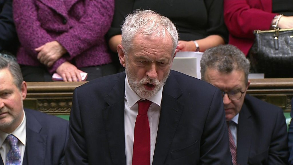 Jeremy Corbyn: 'Remove prospect of catastrophe of a no-deal Brexit'