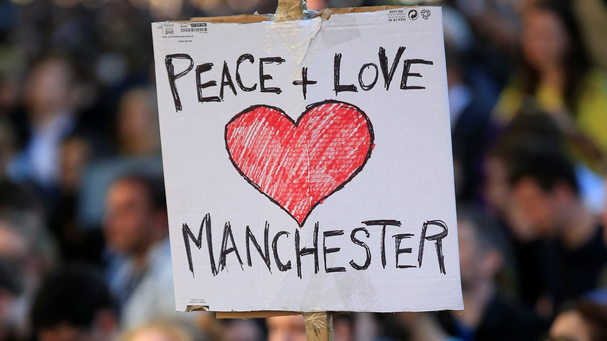 Children remember Manchester attack victims at vigil