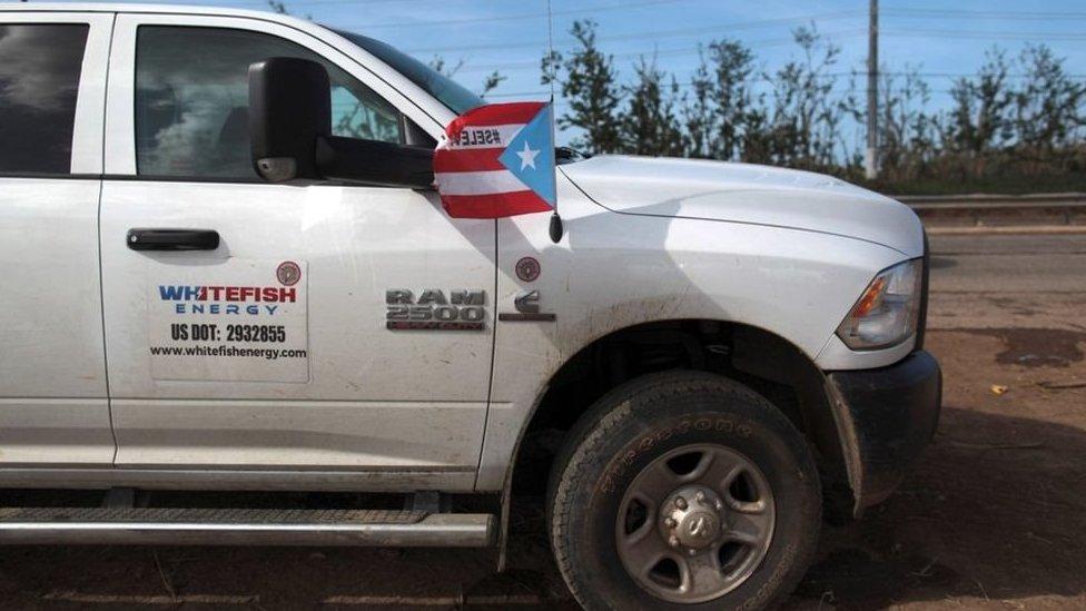 Vehículo de Whitefish en Puerto Rico