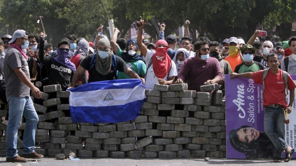 Nicaragua reporter killed during Facebook Live amid unrest | BBC