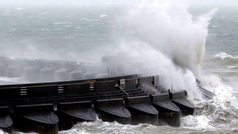 Storm Doris winds reach 94mph as it hits UK