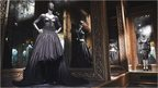 Romantic gothic designs by British fashion designer Alexander McQueen on display at the V&A Savage Beauty exhibition