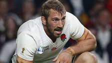Chris Robshaw in action for England
