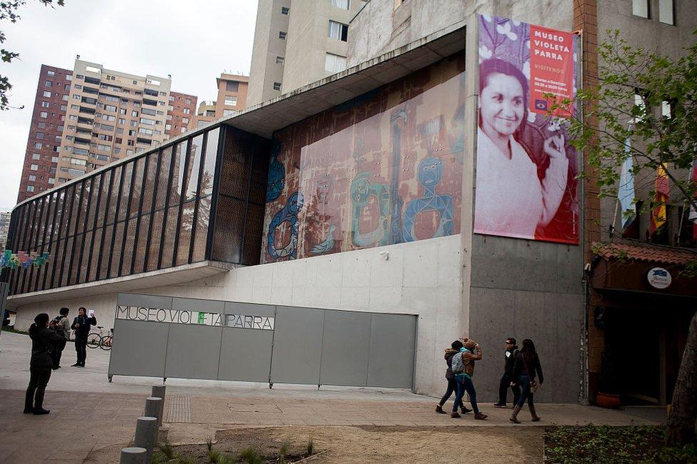 Museo Violeta Parra en Santiago, Chile.