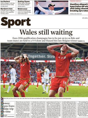 The Independent back page