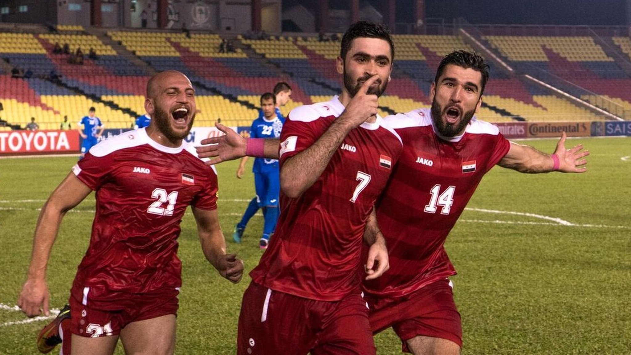 How Syria won their 'most important match'