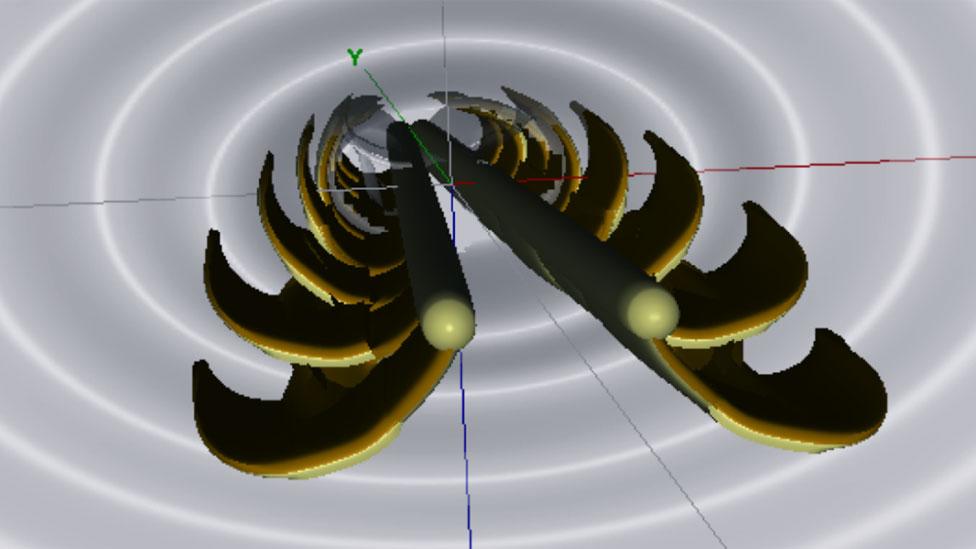 Ilustración de la estructura de la lengua en forma de dos cilindros que se bifurcan al entrar al líquido. (Foto: cortesía de Alejandro Rico-Guevara)