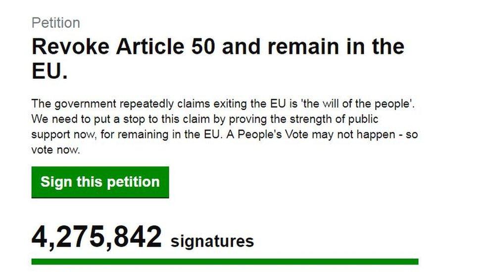 'Cancel Brexit' petition woman