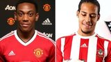 Anthony Martial and Virgil van Dijk,