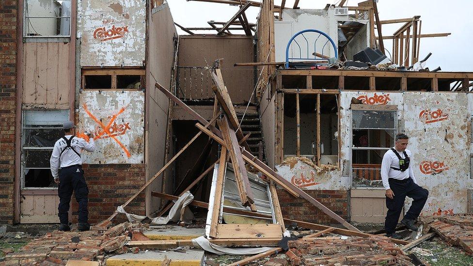 Un apartamento dañado por el paso de Harvey