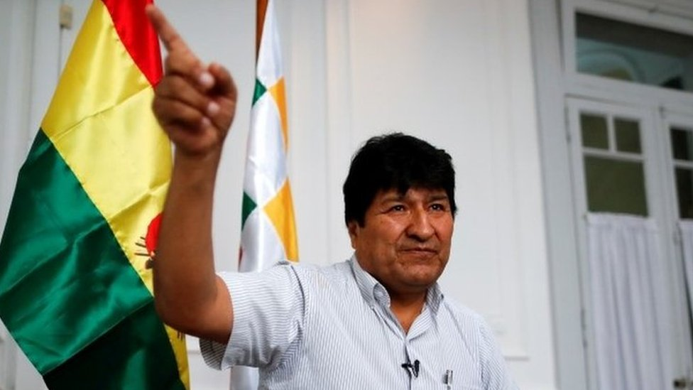 Former Bolivian President Evo Morales gestures during an interview with Reuters, in Buenos Aires, Argentina March 2, 2020. Picture taken March 2, 2020.