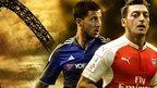 Eden Hazard and Mesut Ozil