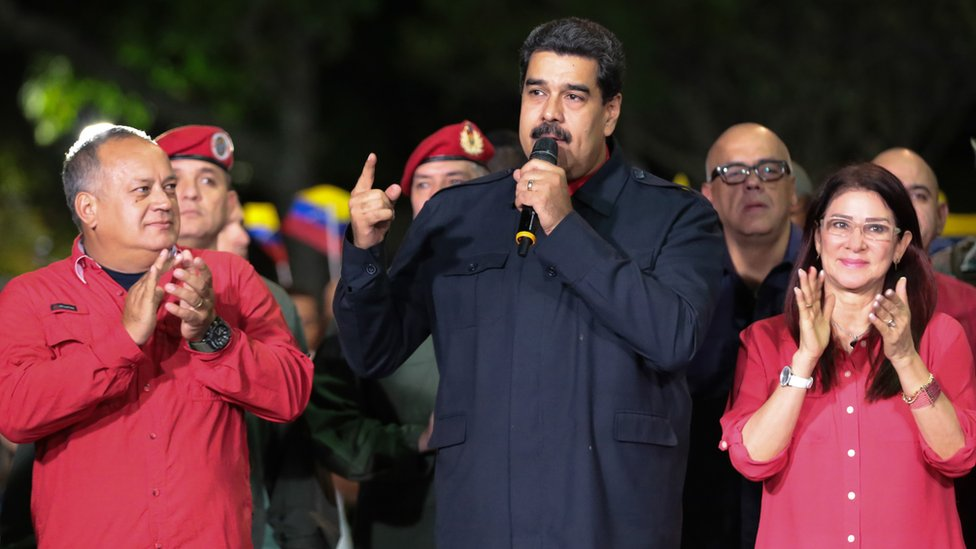 Maduro habla después de la votación del domingo