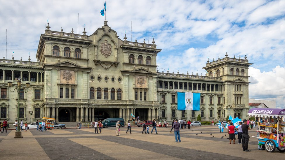 Plaza principal de Guatemala.