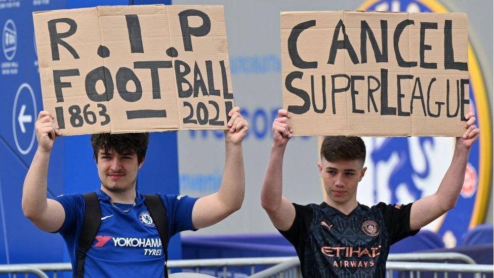Por qué fracasó la Superliga europea de fútbol en solo 48 horas - BBC News  Mundo