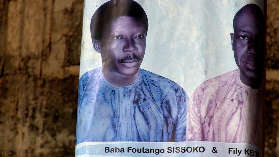 Un poster de las elecciones de 2013 en la que se ve a Foutanga Babani Sissoko.