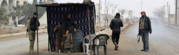 مسلحو المعارضة شمالي محافظة حلب