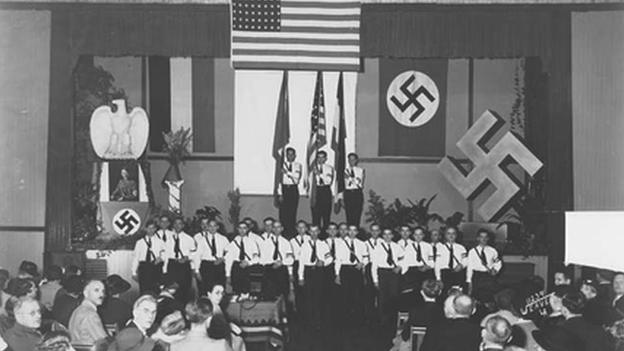 Celebración del cumpleaños de Adolf Hitler en abril de 1935 en el Deutsches Haus de Los Ángeles (Foto: cortesía Steven Ross)