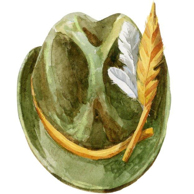 Sombrero tirolés.