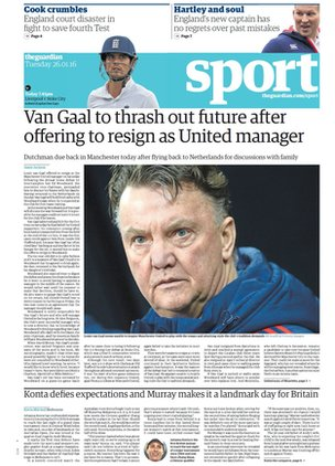 Guardian back page