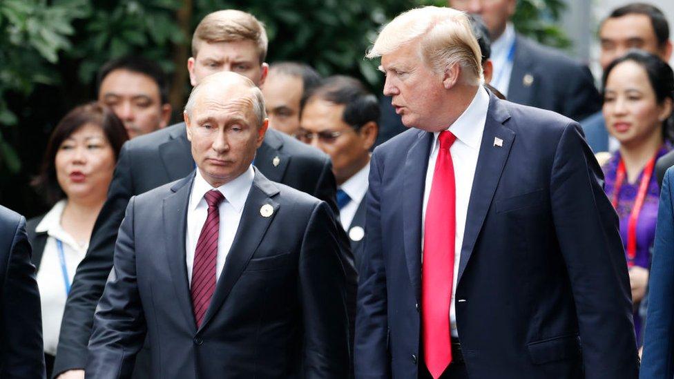 Donald Trump y Vladímir Putin.