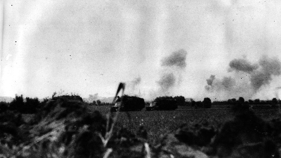Campos después del bombardeo