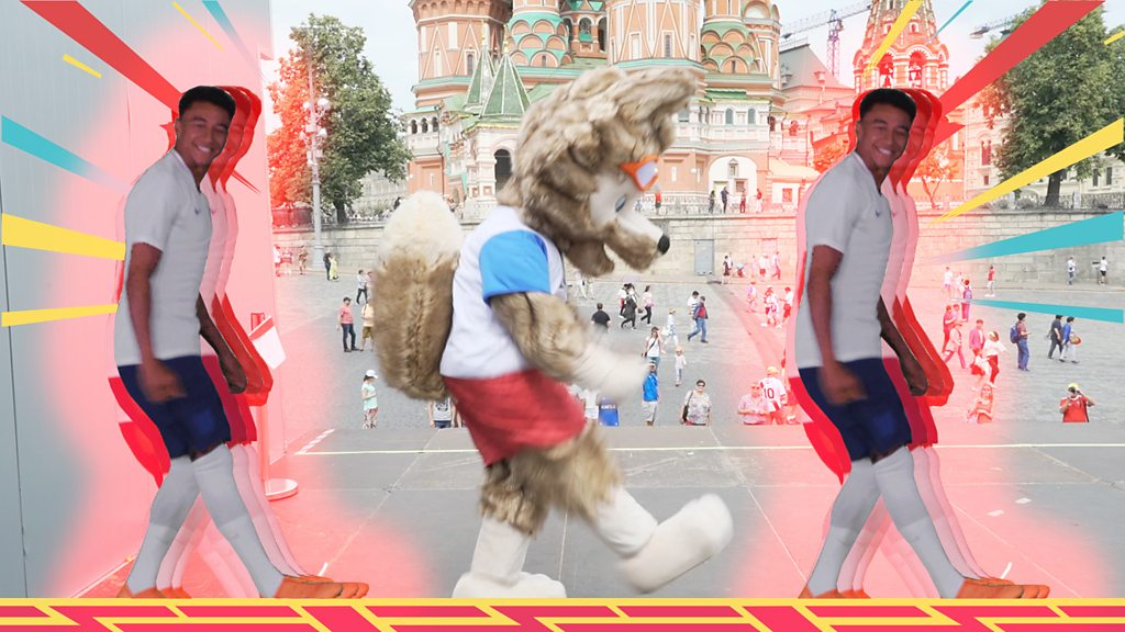 World Cup 2018: Zabivaka the mascot takes on the footballers in a World Cup dance off