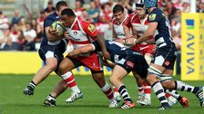 Sila Puafisi carries for Gloucester
