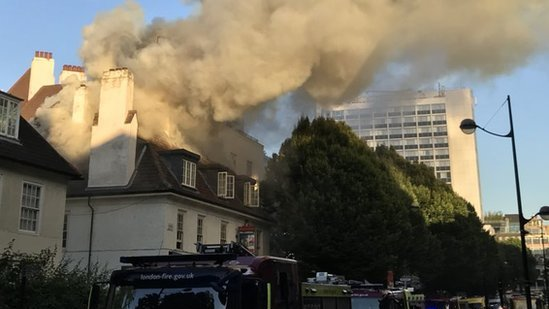 London Euston pub fire: Crews tackle blaze near station