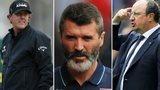 Phil Mickelson, Roy Keane, rafa Benitez