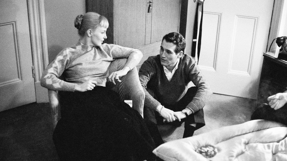 بول نيومان وزوجته جوان وودوارد
