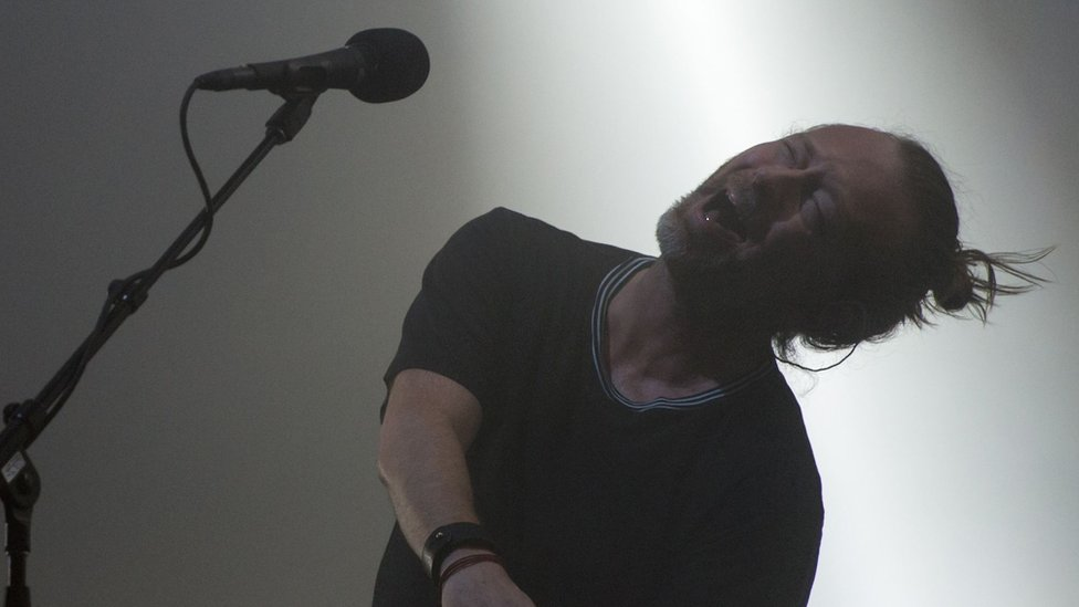 Radiohead mesmerise fans at Glastonbury with a wayward, but compelling, set