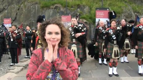 Frankie at the Royal Military Tattoo