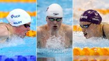 Hannah Miley, Adam Peaty and Fran Halsall