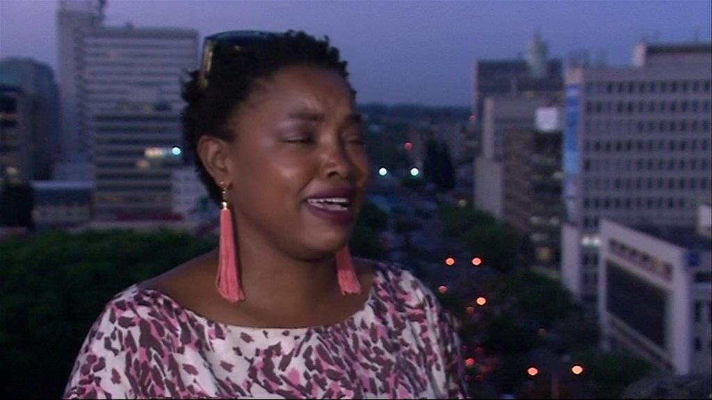 Emotional moment for Zimbabwe activist: 'I've no words'