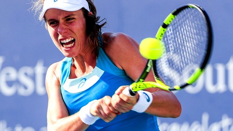Konta beats Cibulkova to reach Cincinnati quarter-finals