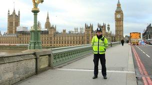 Policeman on Westminster Bridge