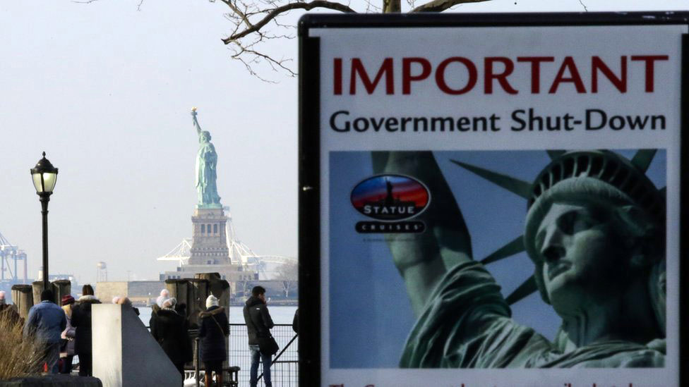 US shutdown: Government services closed as working week begins
