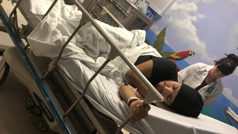 José Guevara en el hospital (Foto: cortesía José Guevara)