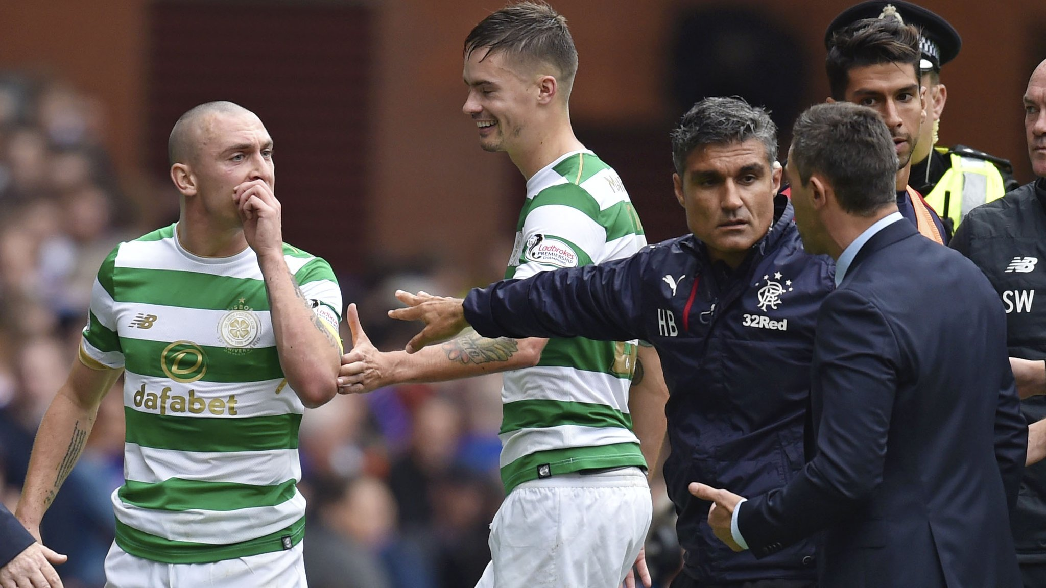 Rangers: Pedro Caixinha says Scott Brown elbowed Alfredo Morelos