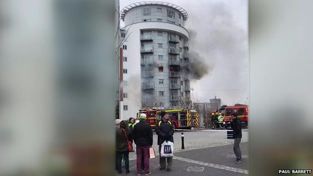 High-rise blaze at Gunwharf Quays is brought under control