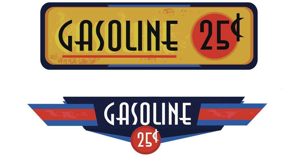 Señales de gasolina