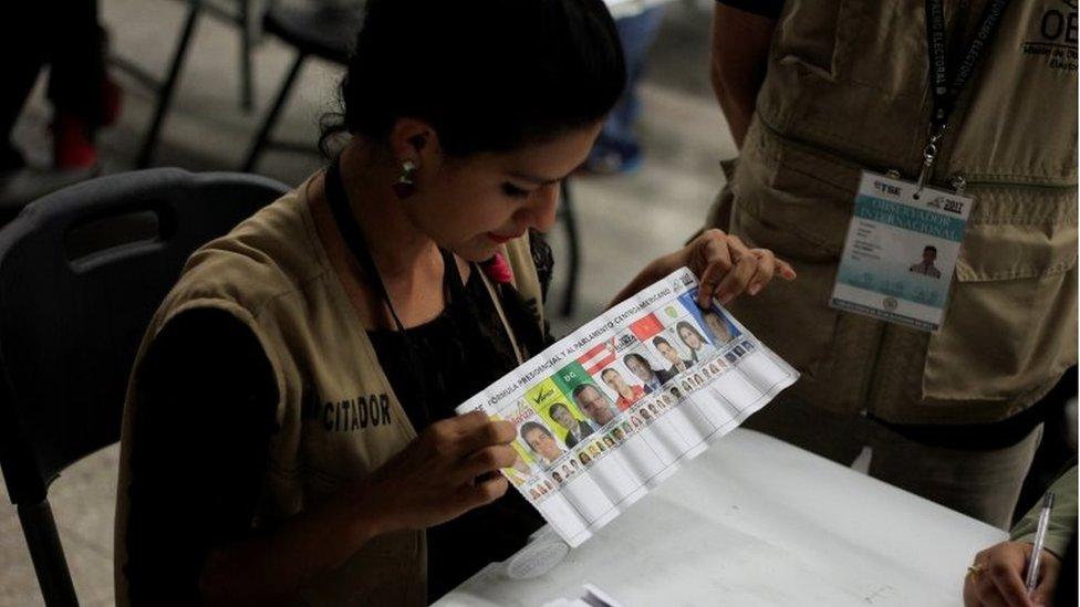 Recuento de votos en Honduras.