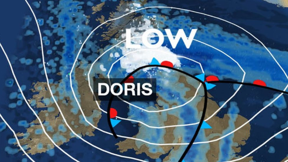 Storm Doris to bring snow and winds of up to 80mph