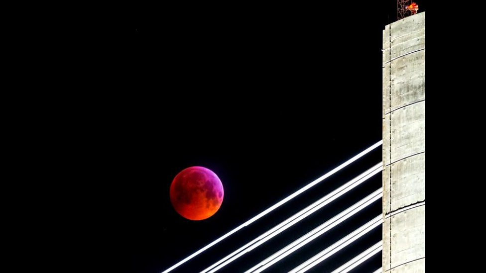 'Super blood wolf moon' as seen over Scotland
