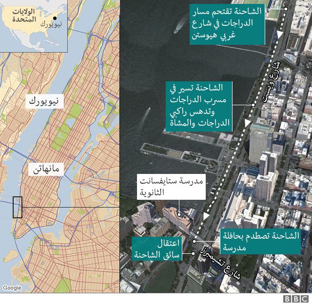 خريطة توضح موقع الهجوم