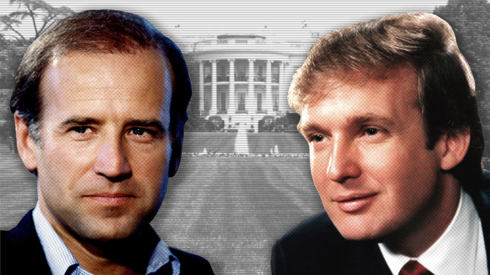 米大統領選2020】 写真で振り返る:トランプ氏とバイデン氏の70年 ...